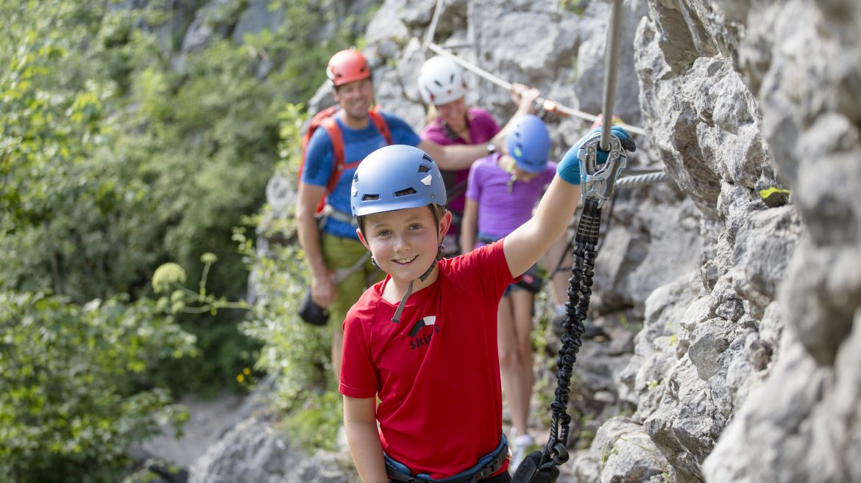 Klettersteig i Salzburger Saalachtal