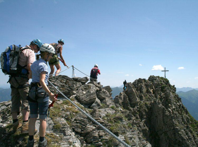 Klettersteige auf der Schlossalm