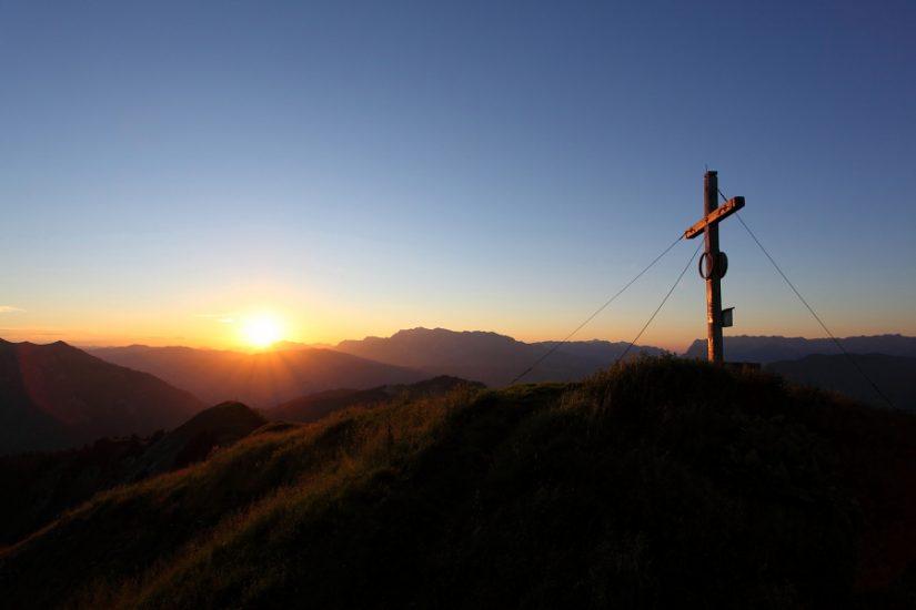 Sonnenuntergang auf der Gabel (= Kitzstein, 2.037 m)