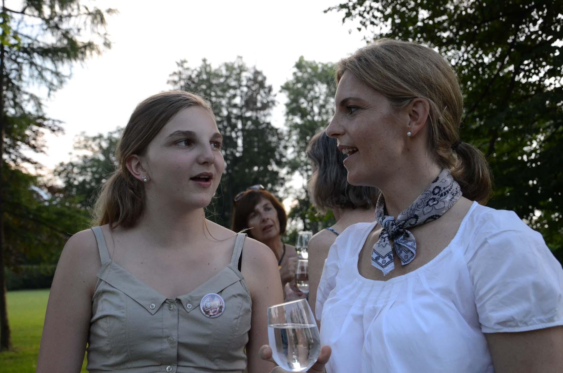 Tochter mit Mutter