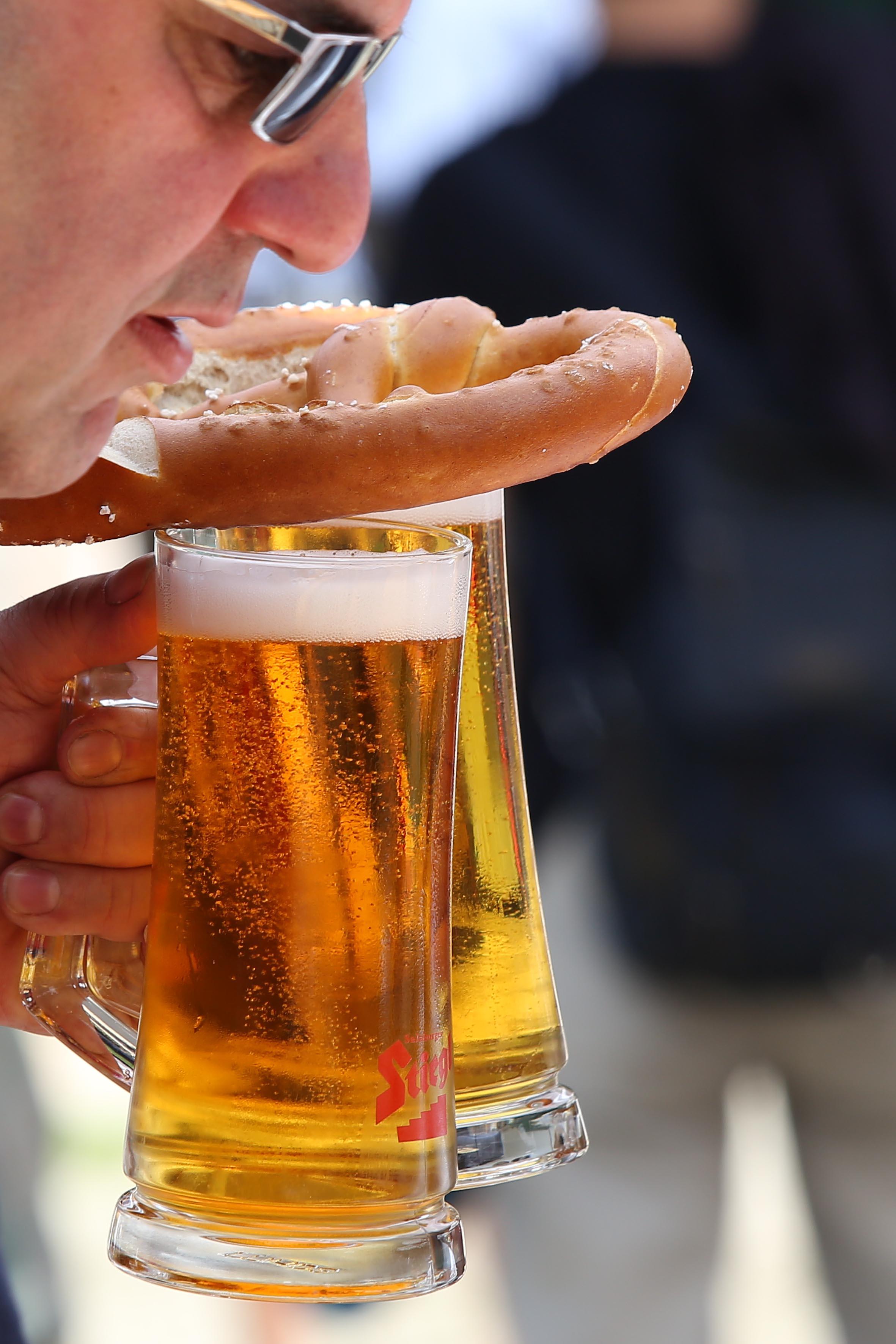 Für ein kühles Bier bleibt immer Zeit
