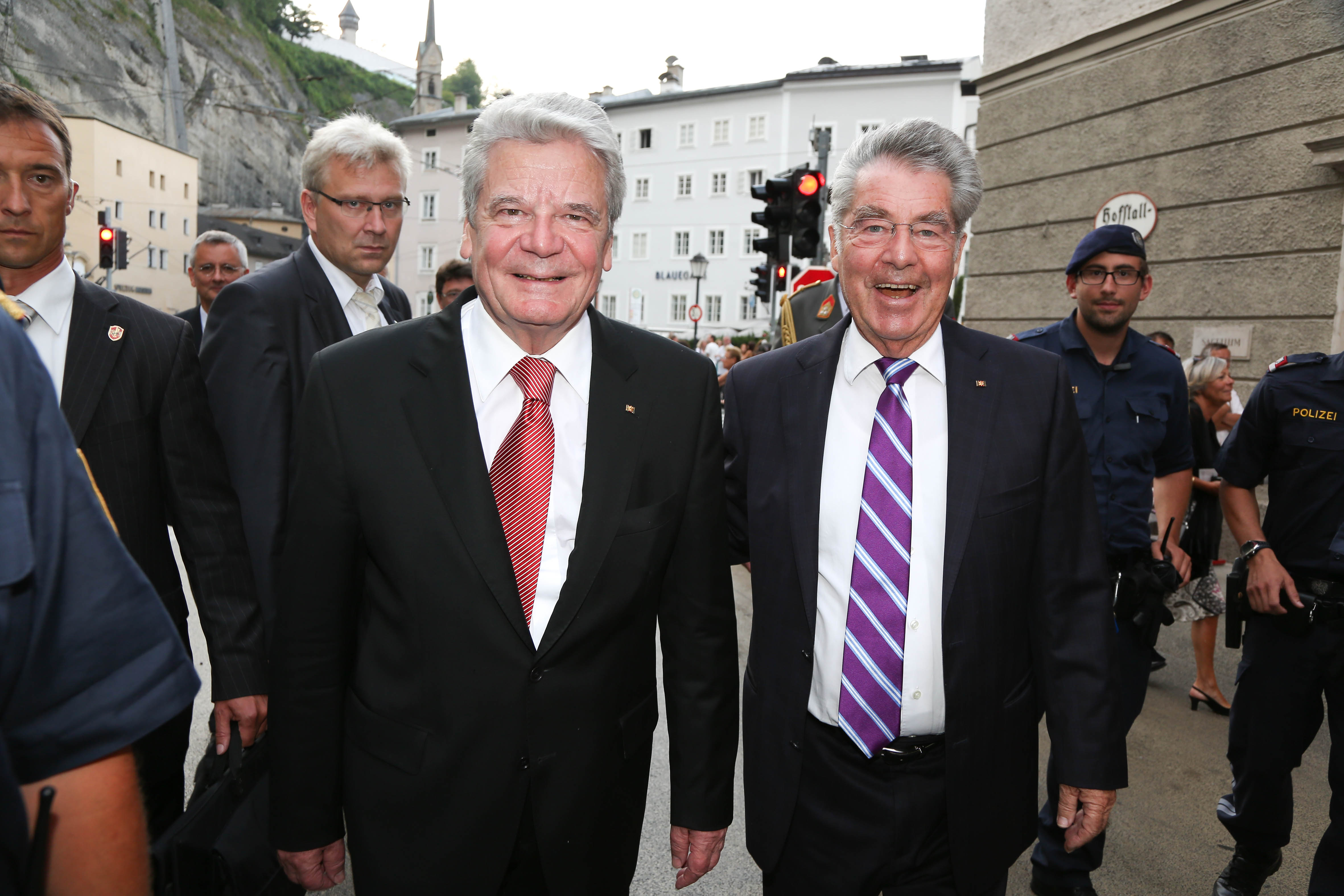 Bundespräsidenten beim offiziellen Stadtspaziergang