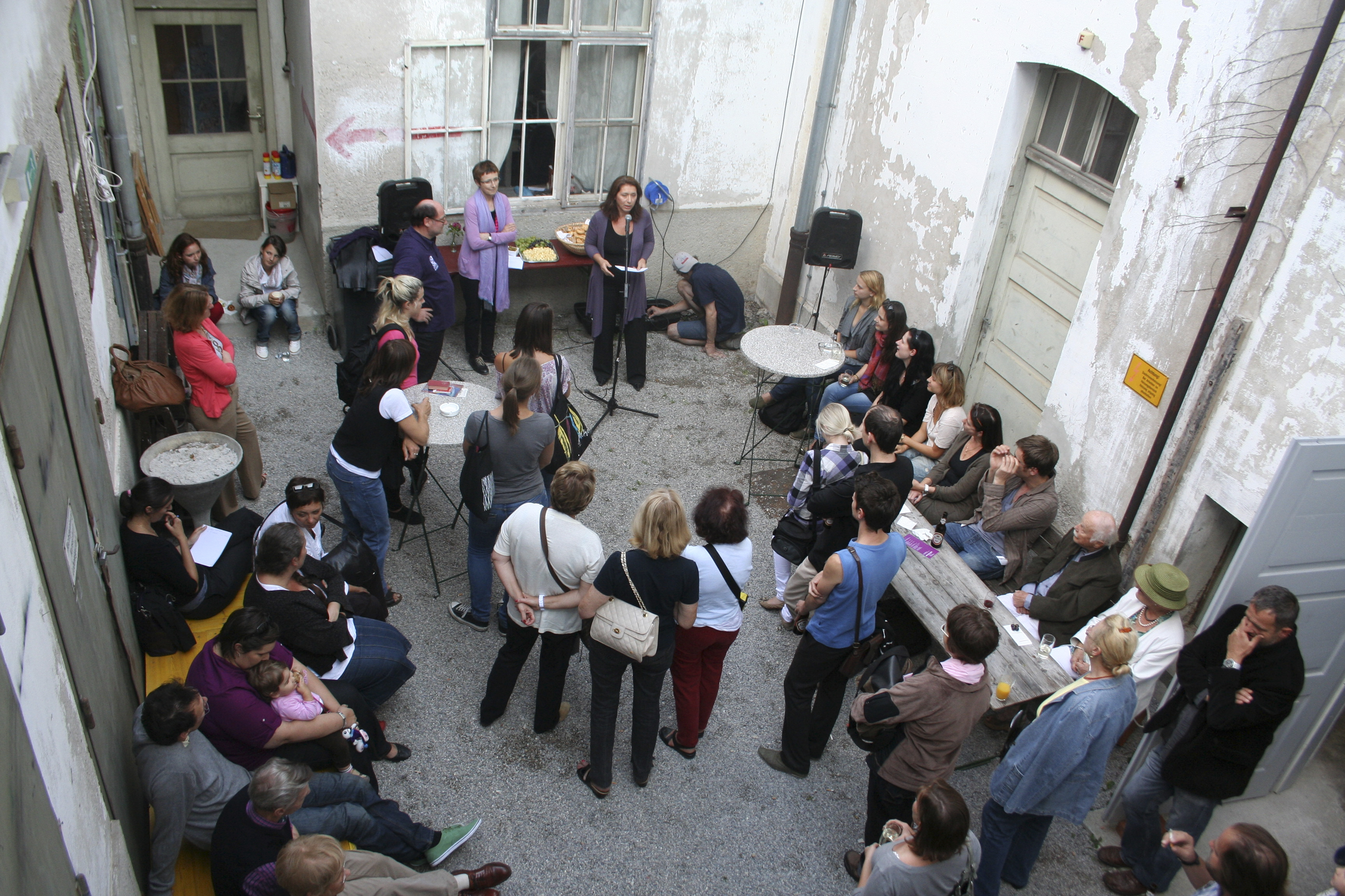 Eröffnung der Sommerakademie in Hallein, Alte Saline, Foto: Laura Kokoshka