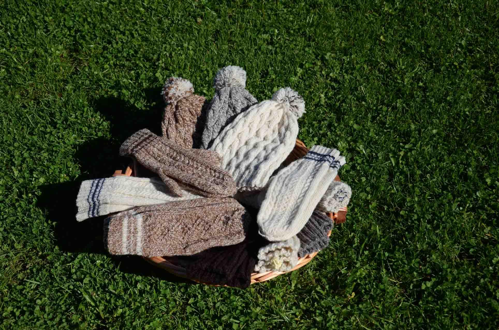Socken, Hauben und Fäustling
