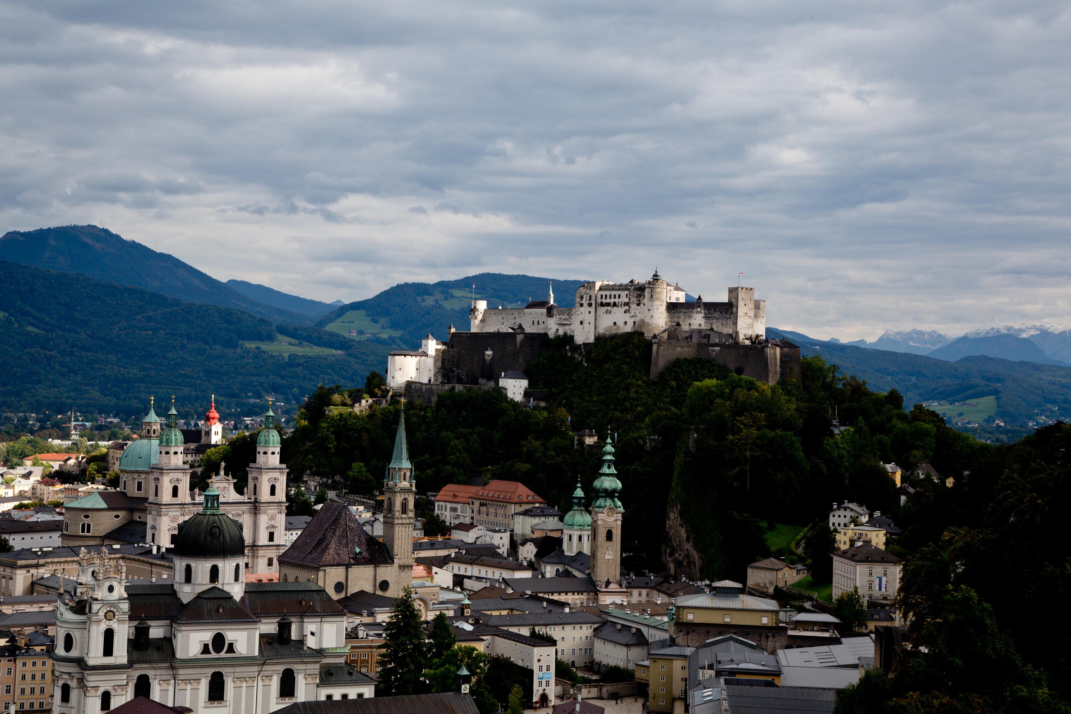 Die beste Fotosicht: Vom Mönchsberg aus