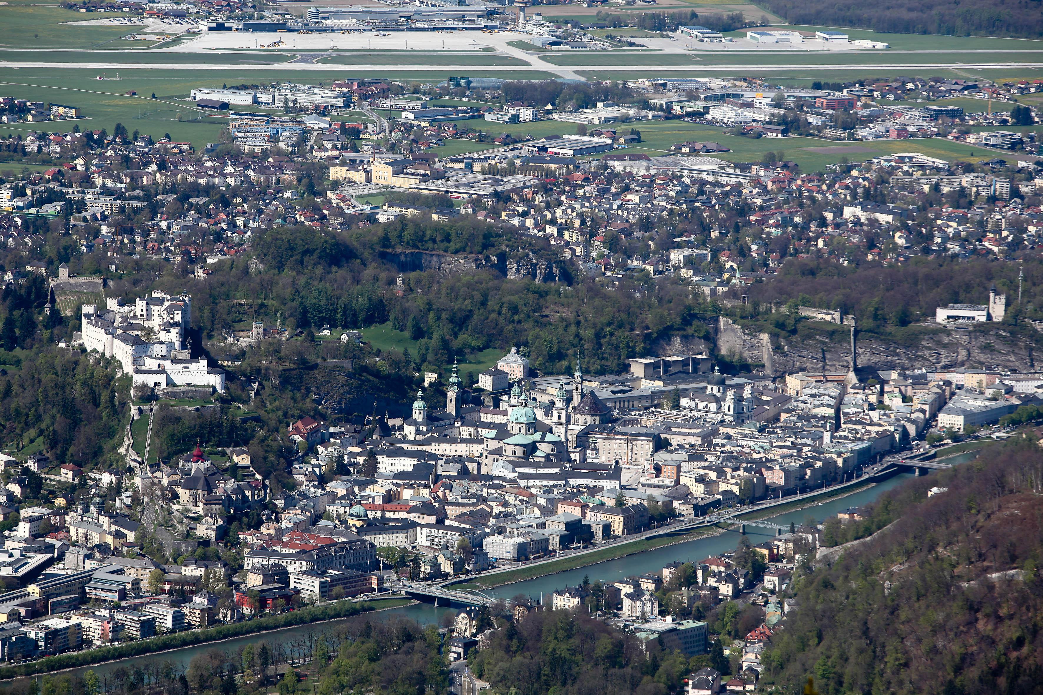 Salzburg vom Gaisberg aus