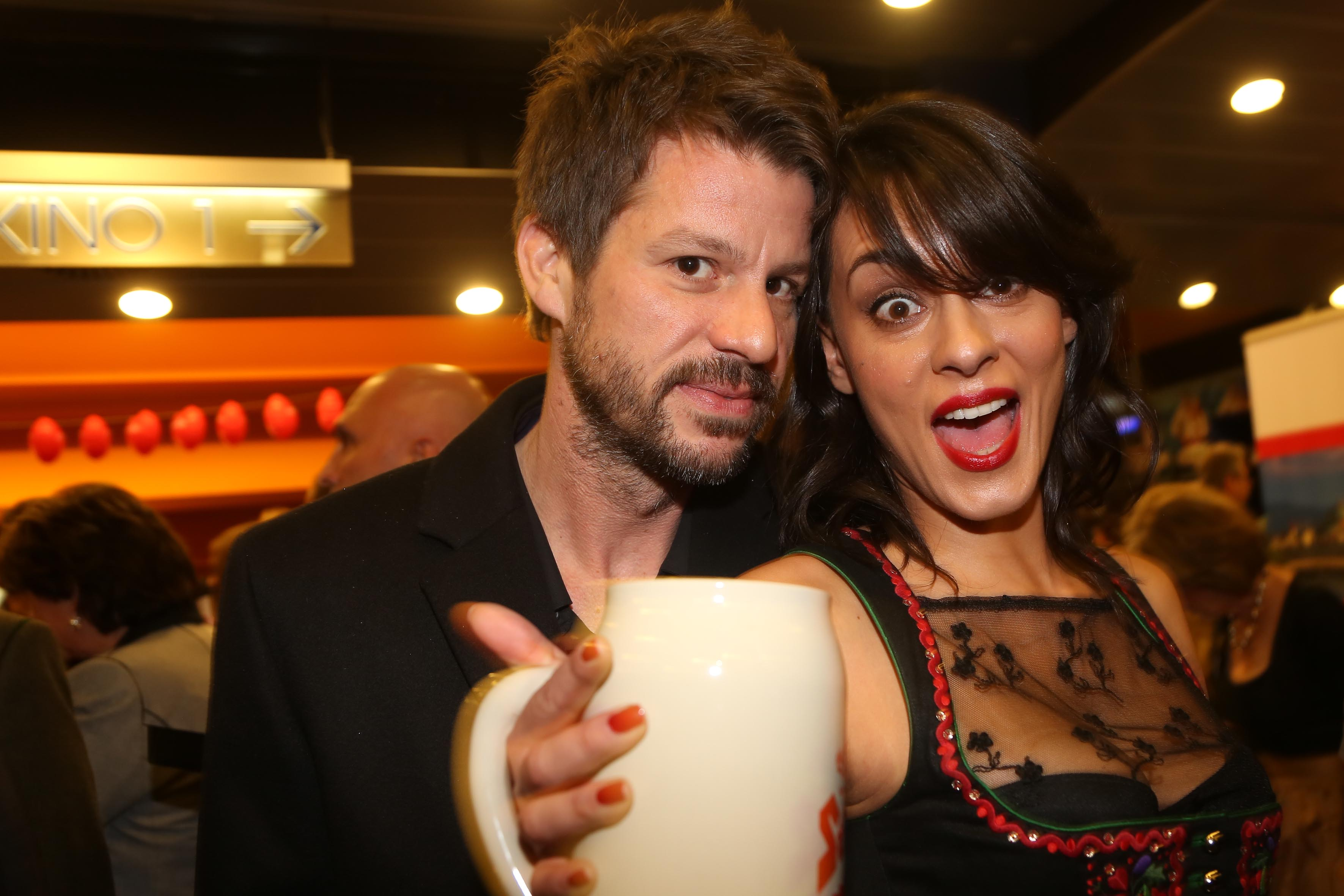 Edita Malovcic, Schauspielerin mit ihrem Freund   Florian Dauner, Fanta 4,