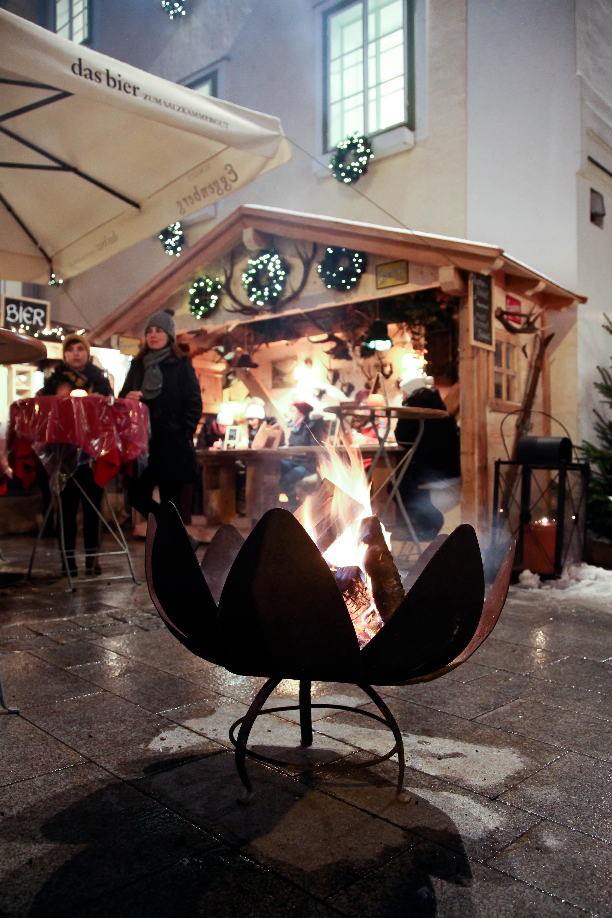 Wärmende Feuerstelle