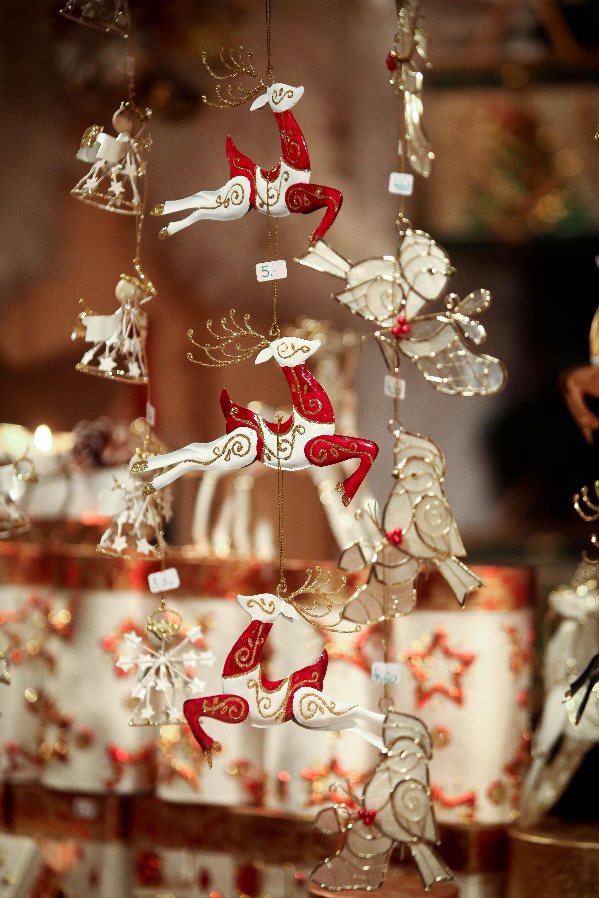 Liebevoll gearbeitete Weihnachtsdekoration