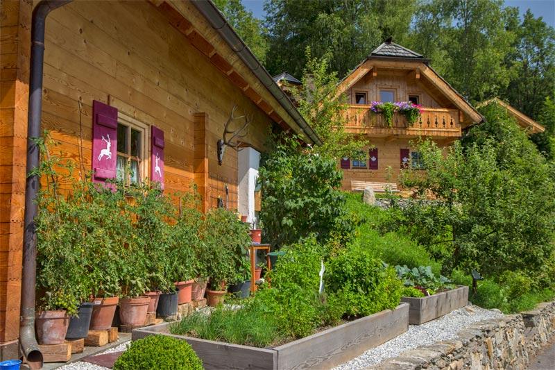 Der Kräutergarten vor der Türe