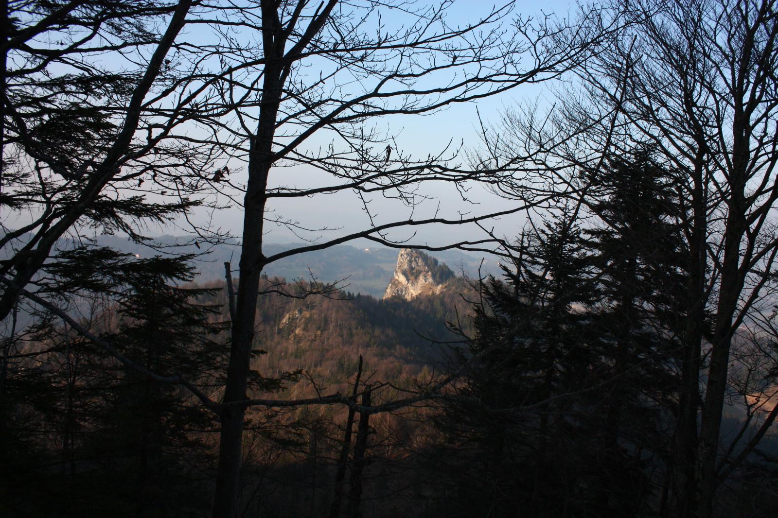 Blick auf andere Berggipfel