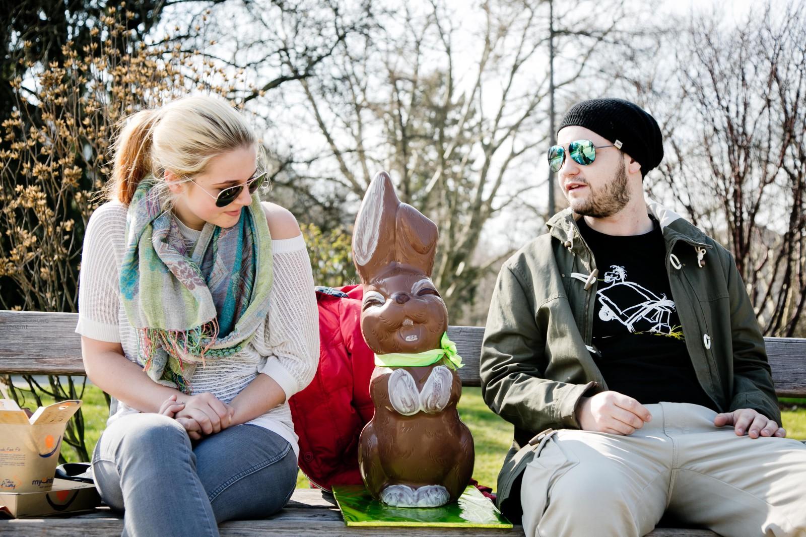 Erste Freunde im Mirabellgarten