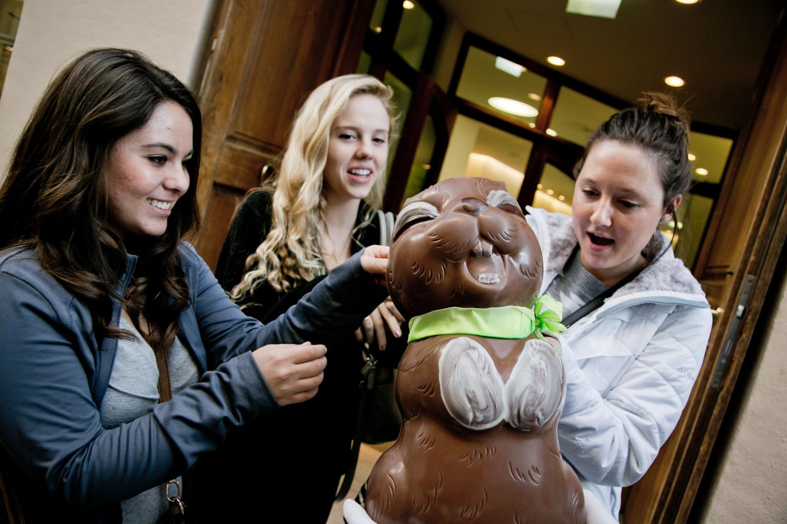 Studentinnen lieben Schoki.