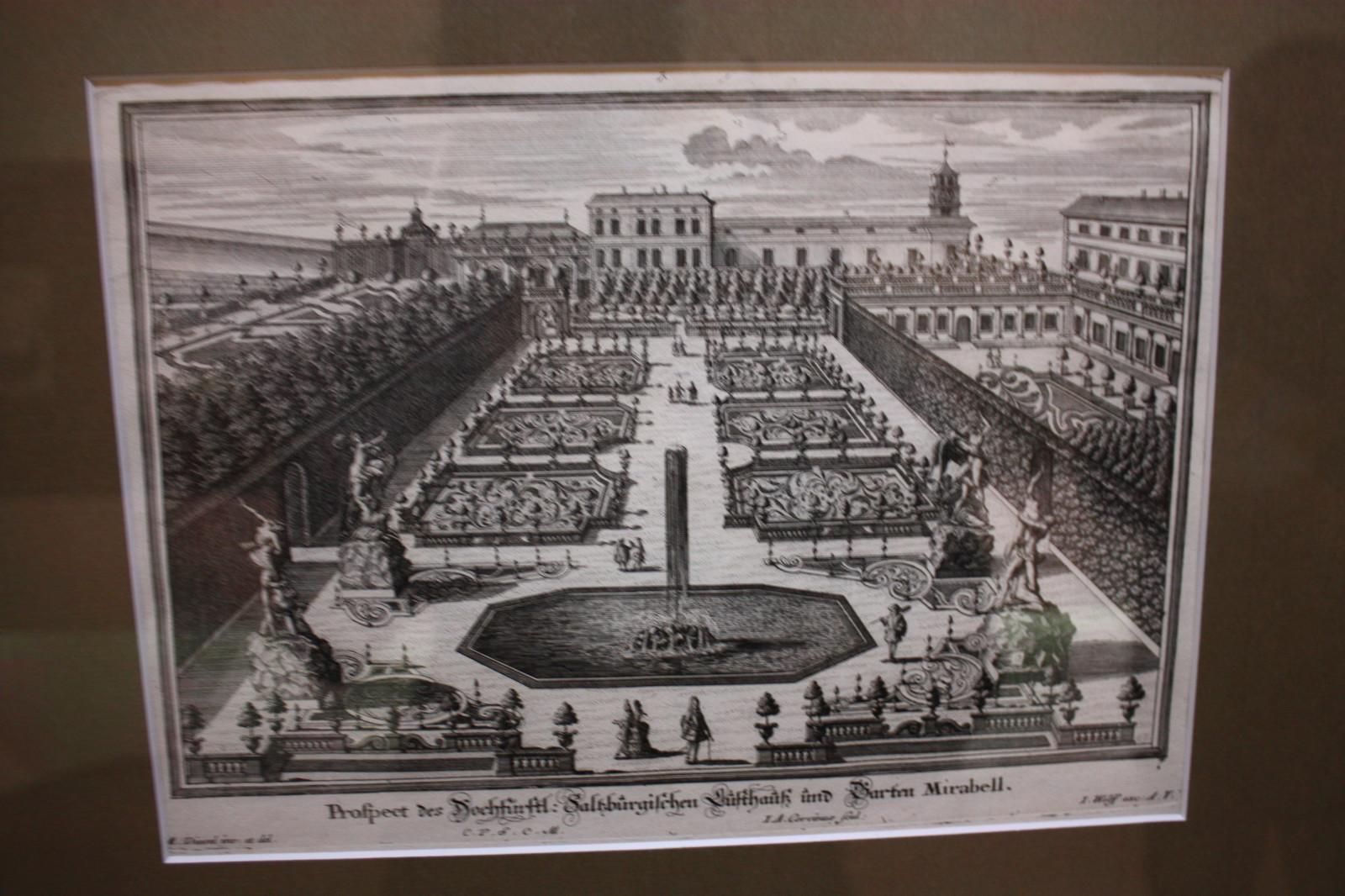 Frühe Skizze des Mirabellgartens