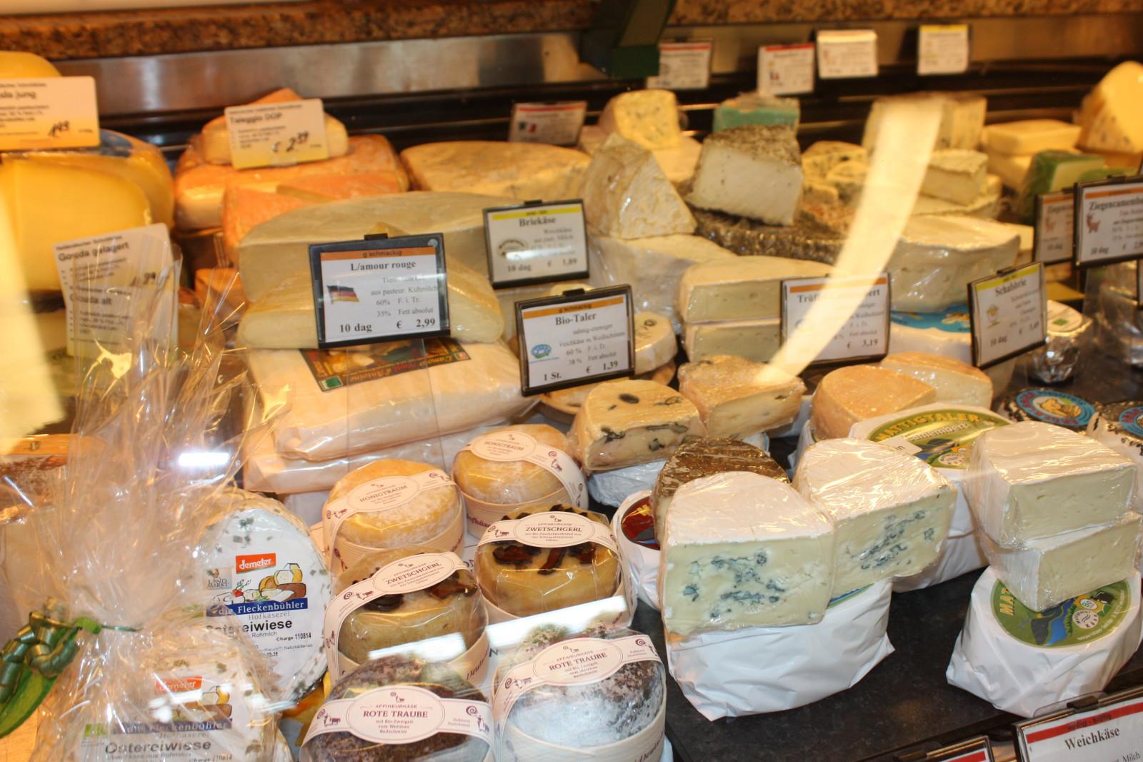 Reiche Auswahl an Käse