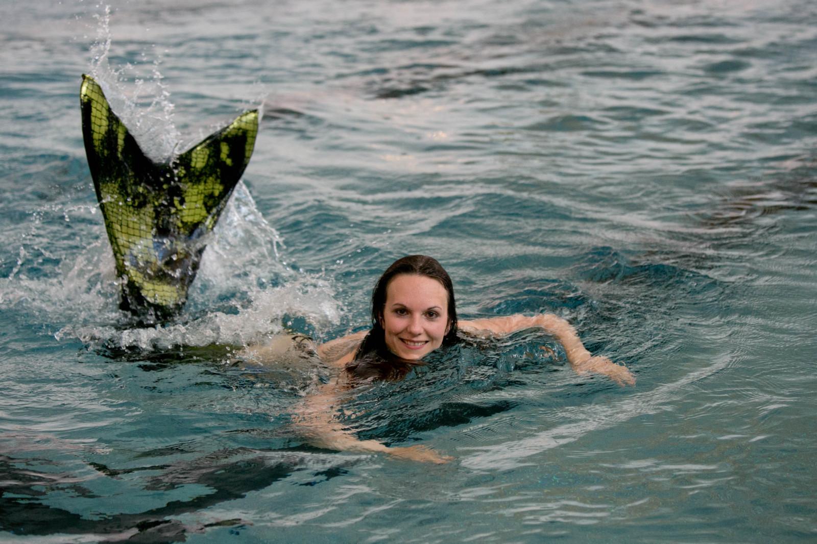 Obernixe im Wasser