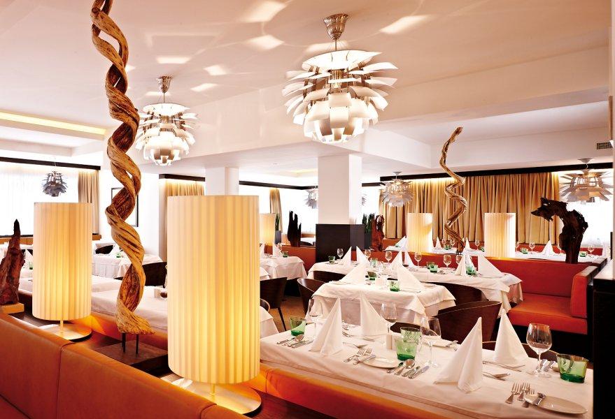Im Restaurant werden auf Wunsch auch orientalische Speisen seviert.