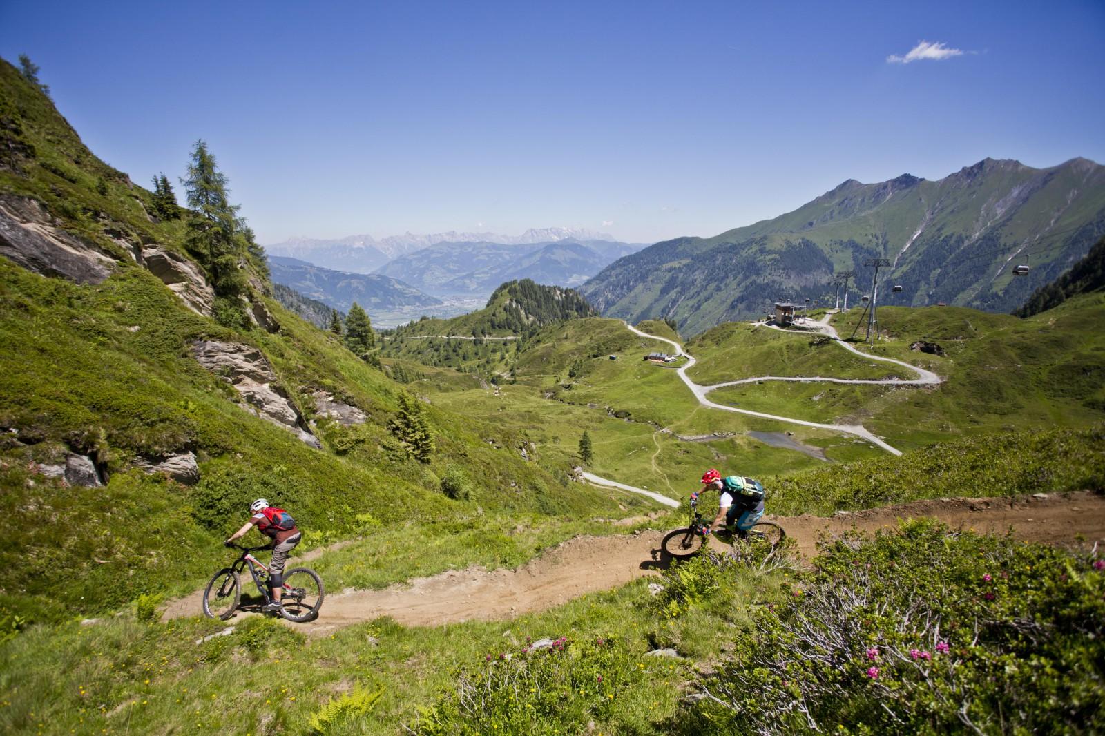 Perfekt gewartete Trails erwarten die Fahrer am Kitzsteinhorn.