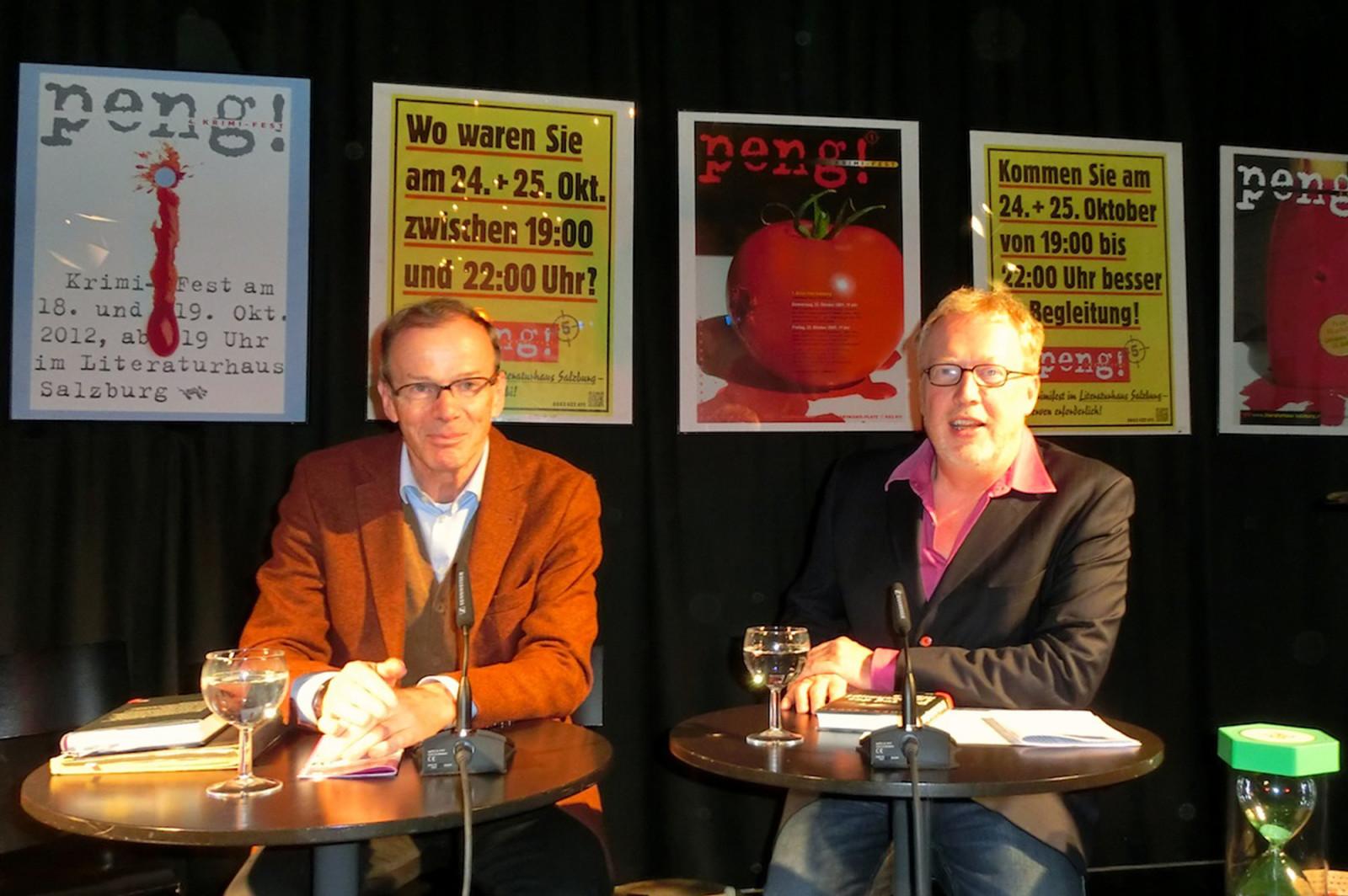 Eugen Freund und Tomas Friedmann beim Krimifest