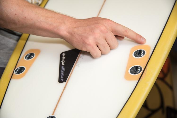 ... und Fixplugs für die Finnen machen das delight-alliance Board besonders robust.