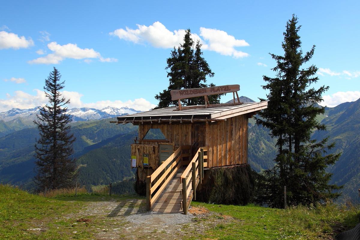 Wilderer-Platzl - der Ausgangspunkt für die Gamssteig-Tour in Großarl