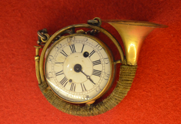 Uhr mit Jagdhord