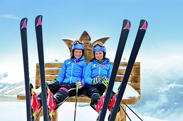 """Ein """"weltmeisterlicher"""" Logenplatz für Salzburger Slalom-Spezialistinnen: Marlies und Bernadette Schild in der Skiregion Hochkönig"""