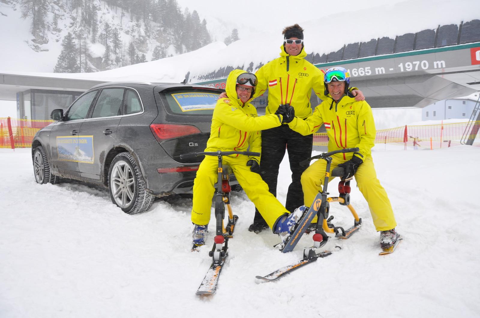 Leidenschaftliche Snowbike-Fans