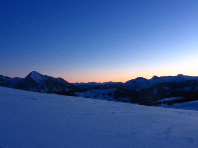 Sonnenuntergang in der Osterhorngruppe.
