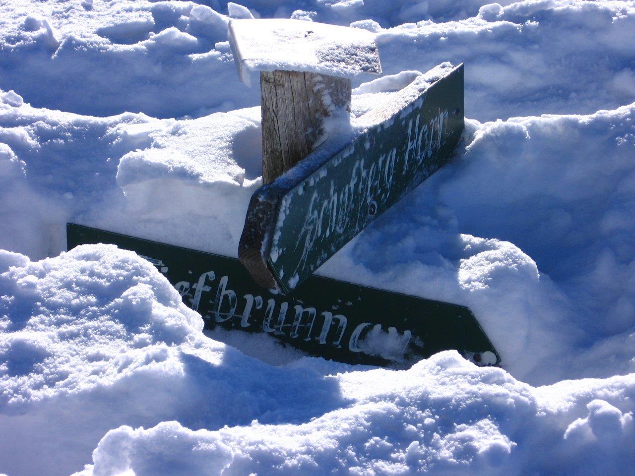 Auch im Flachgau hat es Schnee.