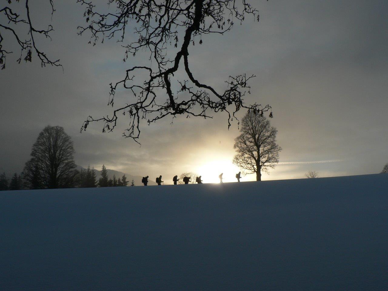 Idylle in der Winterlandschaft.