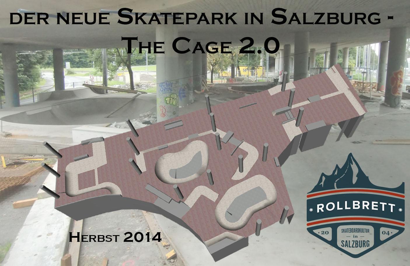 Park Überssicht ©Rollbrett Salzburg