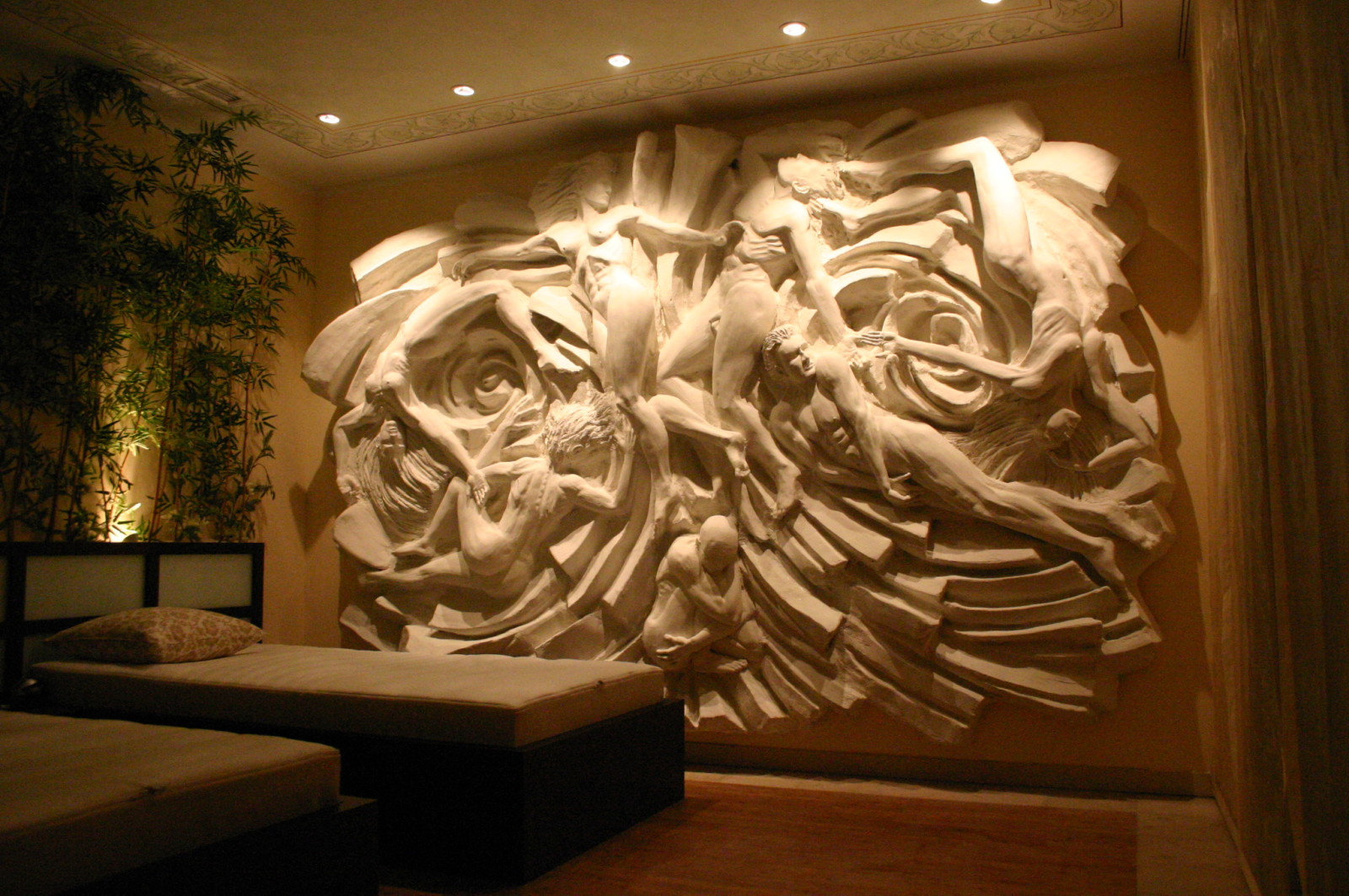 Kunstvolle Wand