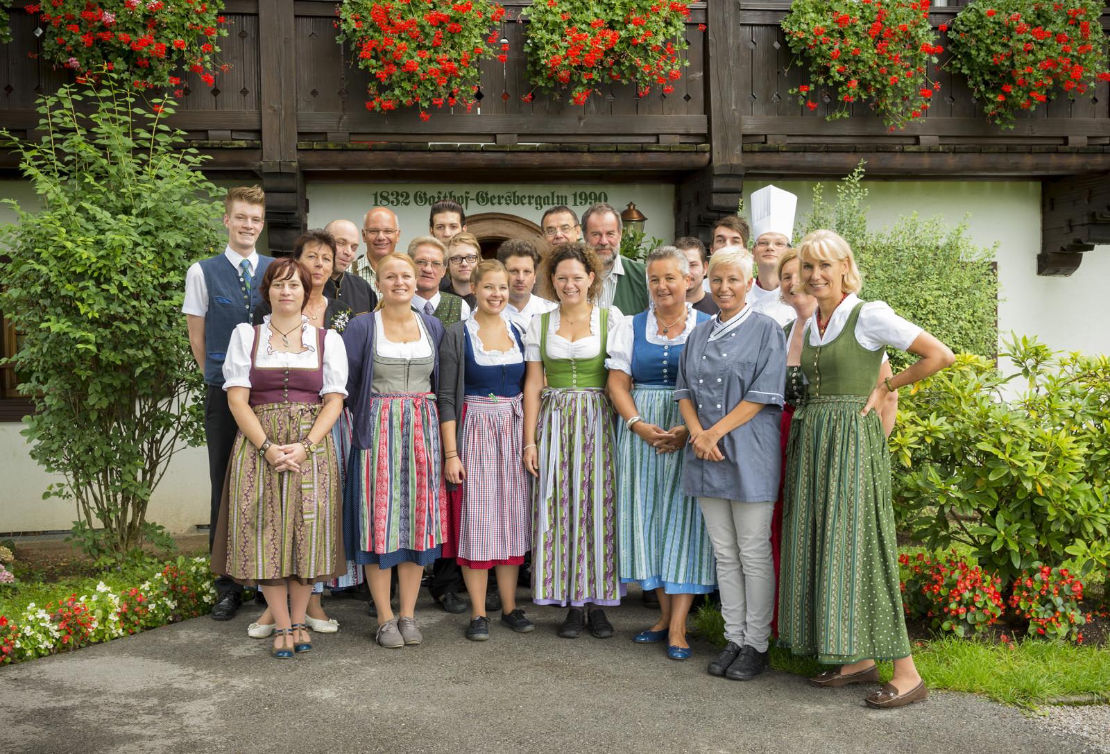 Eingeschworenes Team: die Belegschaft der Gersberg Alm ©Gersberg Alm