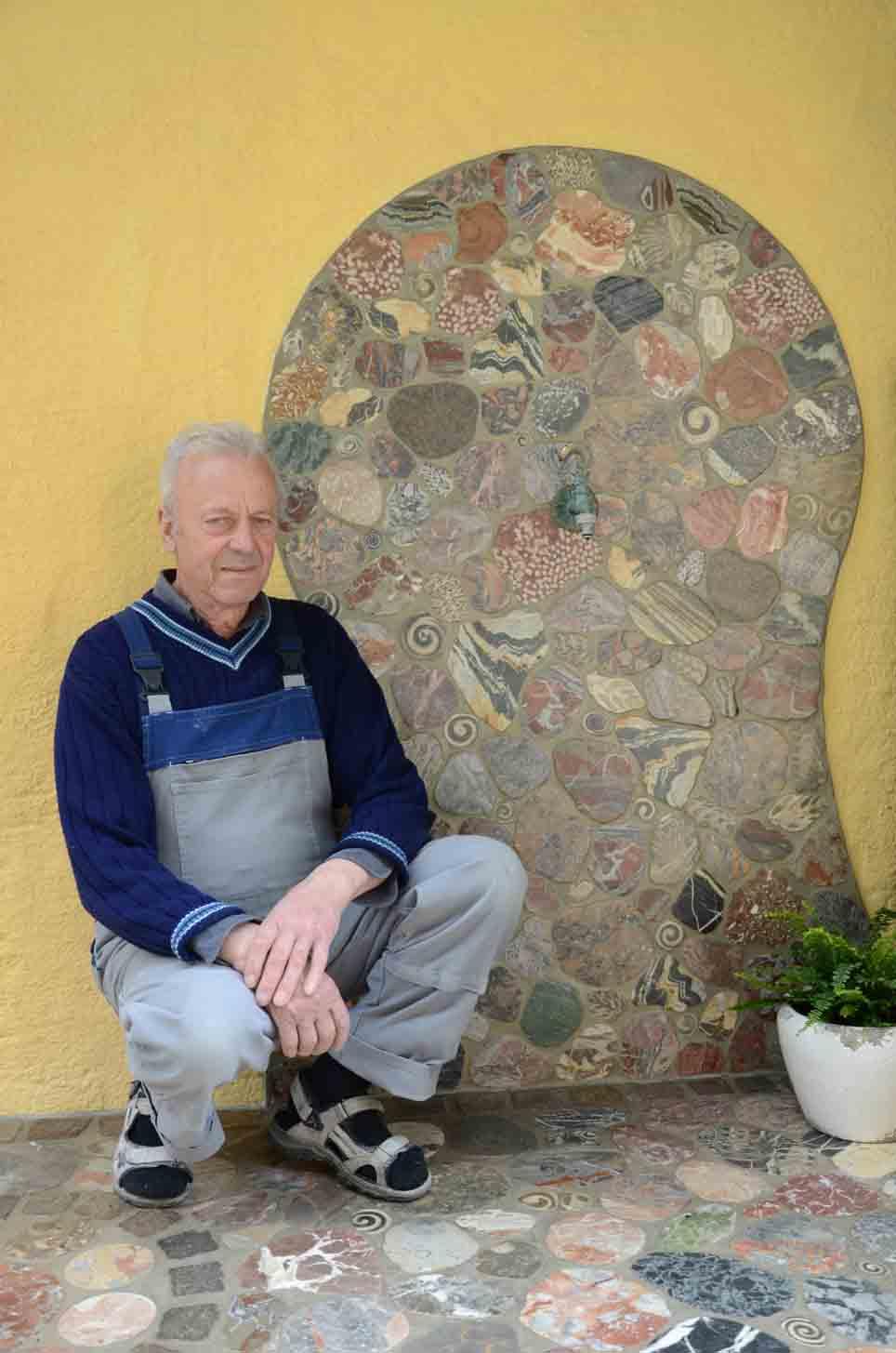 Wandgemälde aus Stein