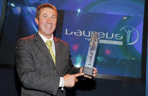 Conny König wird mit dem Laureus Award für sein Engagement ausgezeichnet ©DPA