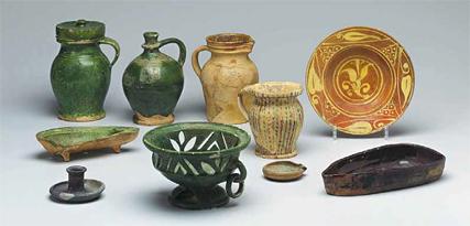 Keramik und Gläser von anno dazumal