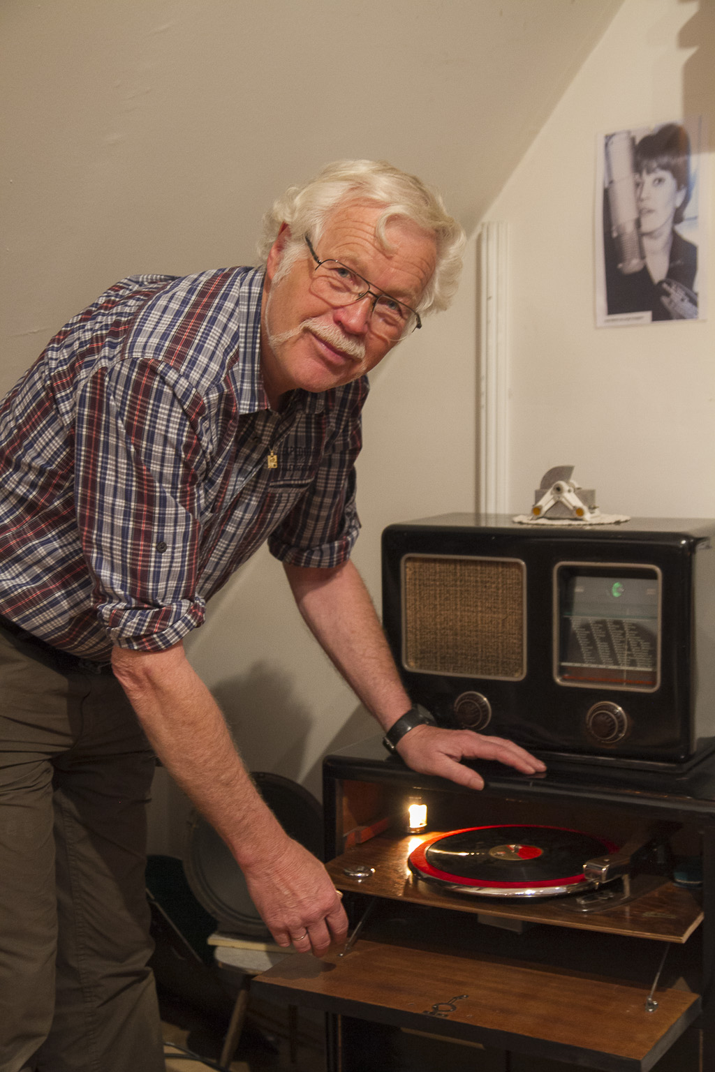 Herr Walchhofer mit seinem Lieblingsgerät