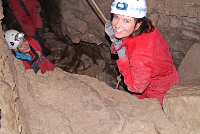 """""""In einer Höhle wird man wieder zum Kind"""", sagen mir die Höhlenexpertinnen - und ich merke, sie haben recht."""