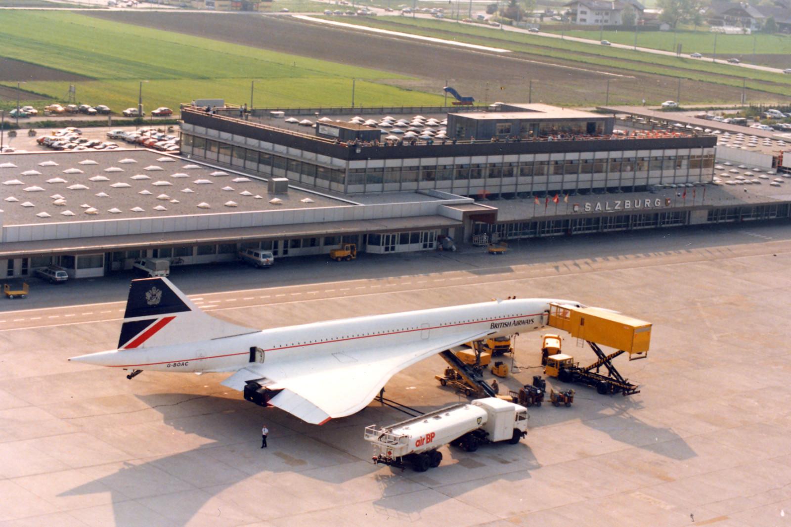 Auch die legendäre Concorde war zu Gast in Salzburg