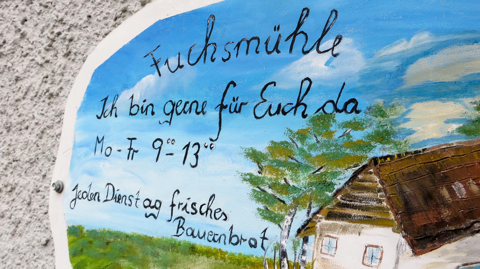 Dienstags gibt es frisches Bauernbrot in der Fuchsmühle.