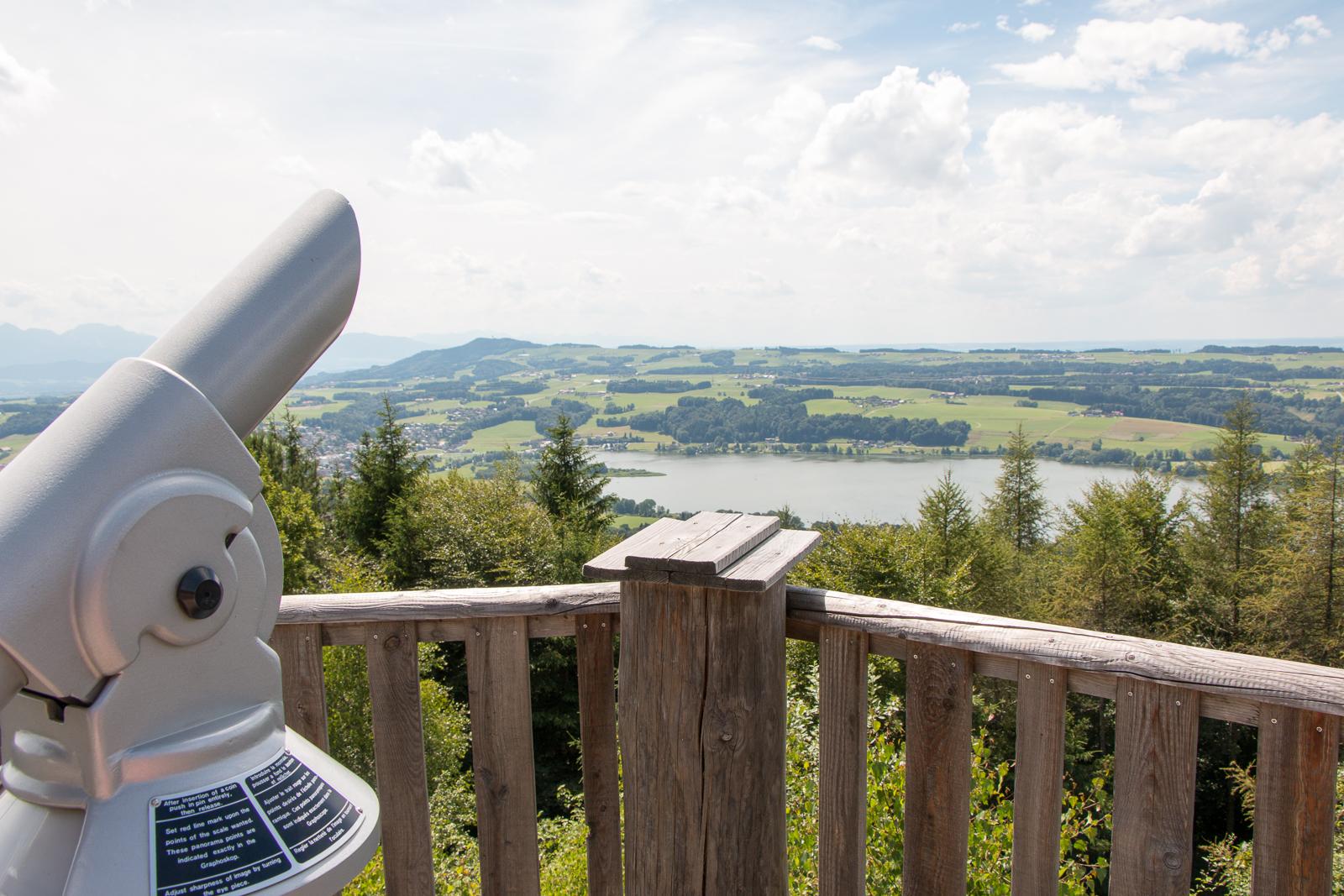 Ausblick auf den Obertrumer See