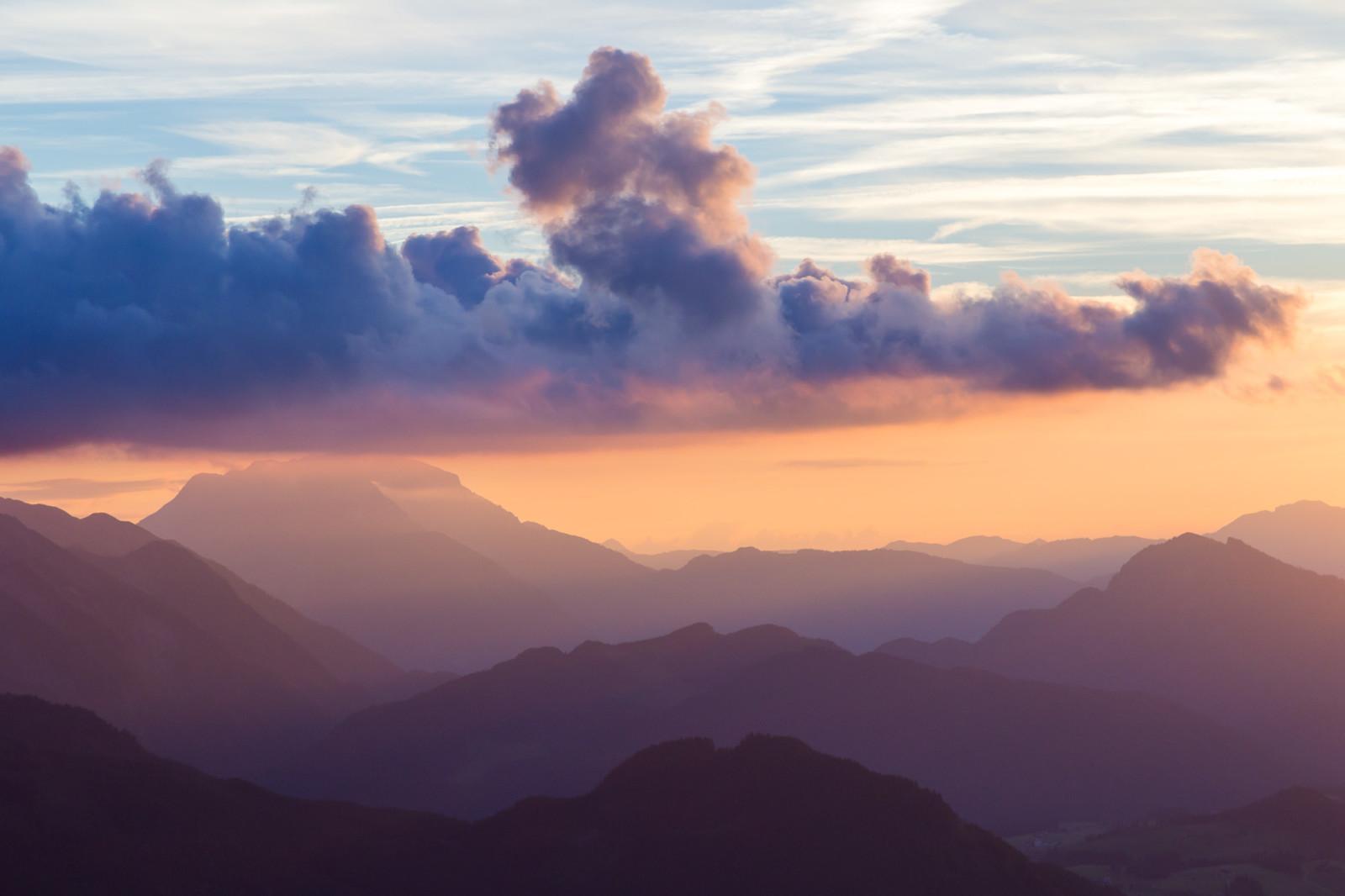 Sonnenuntergang über Lammertal