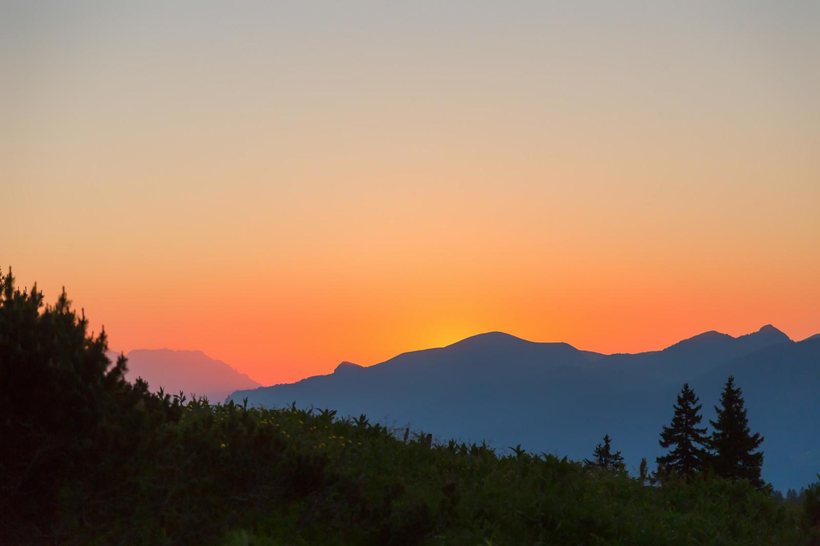Sonnenuntergang bei Gablonzer Hütte