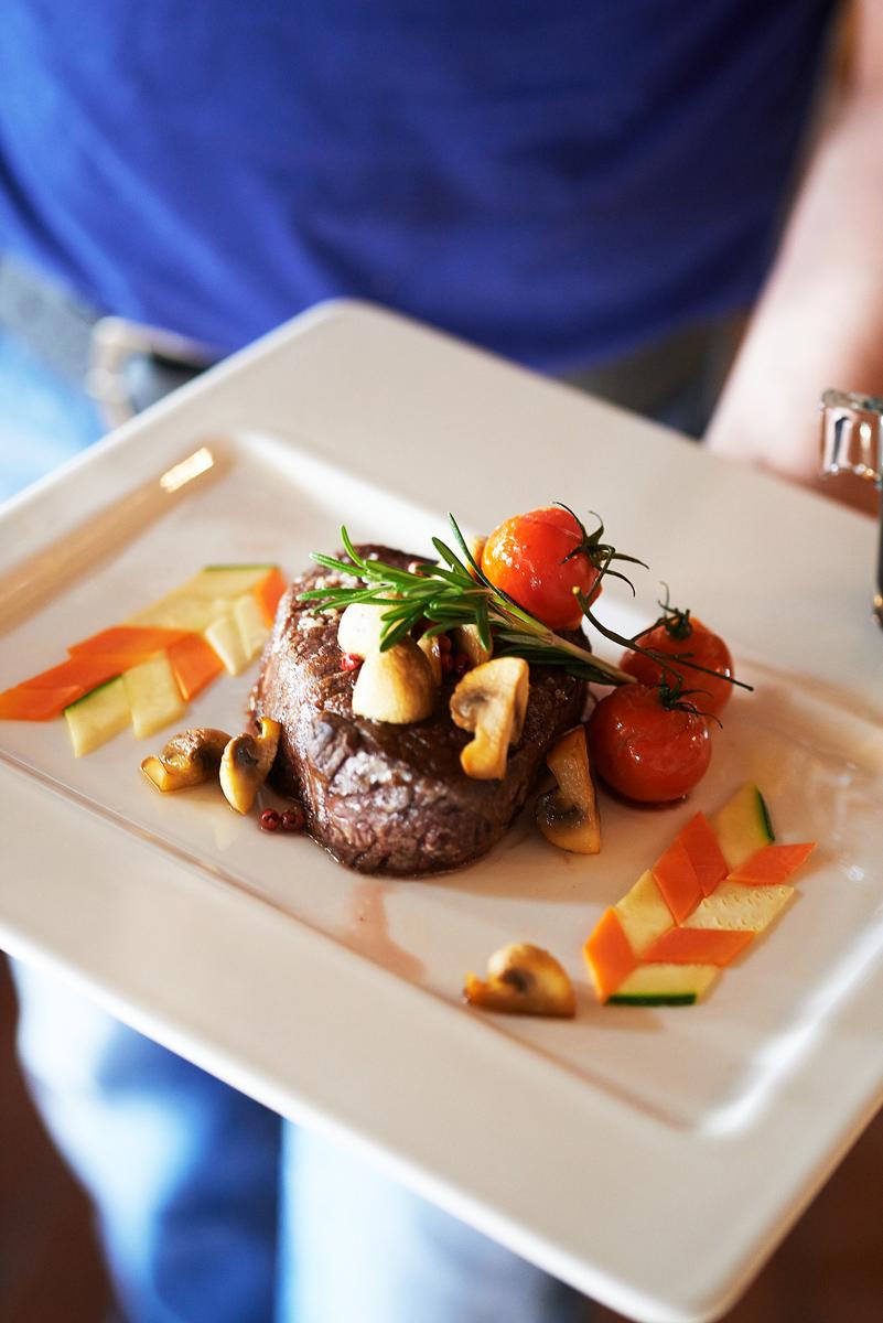 ein feines Steak stehen ganz oben auf Hirschers Lieblingsspeisen-Plan.