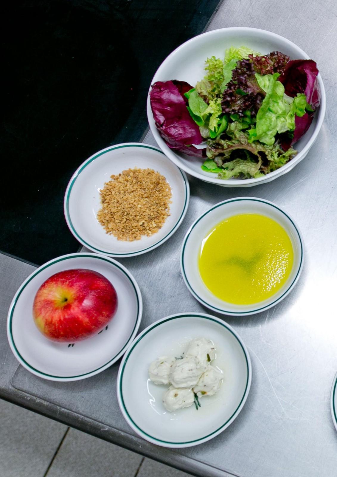 Zutaten für den Salat