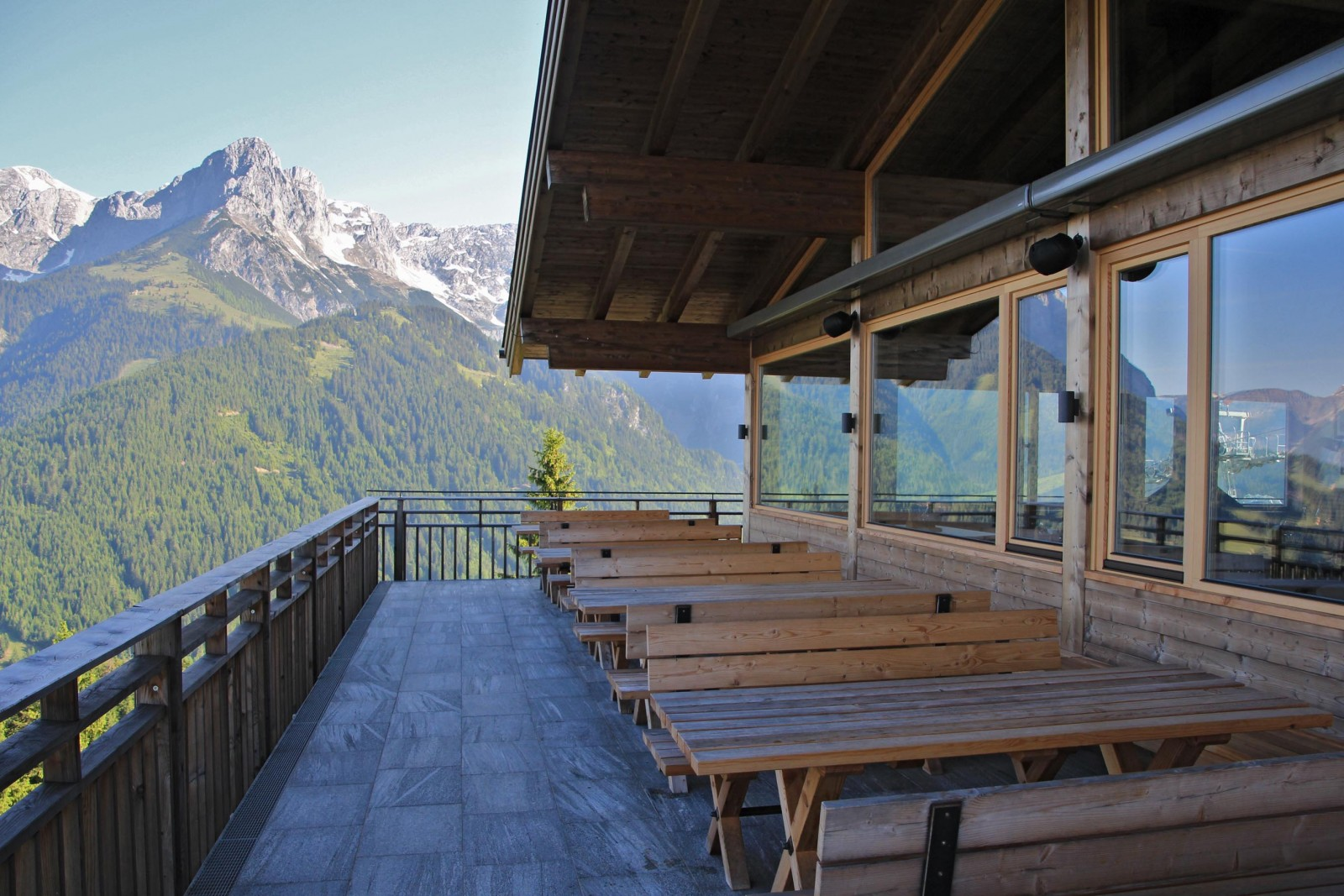 Ausblick Richtung Tennengebirge, Hochkönig und Hagengebirge