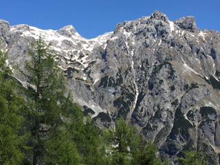 Kalkstöcke des Tennengebirges