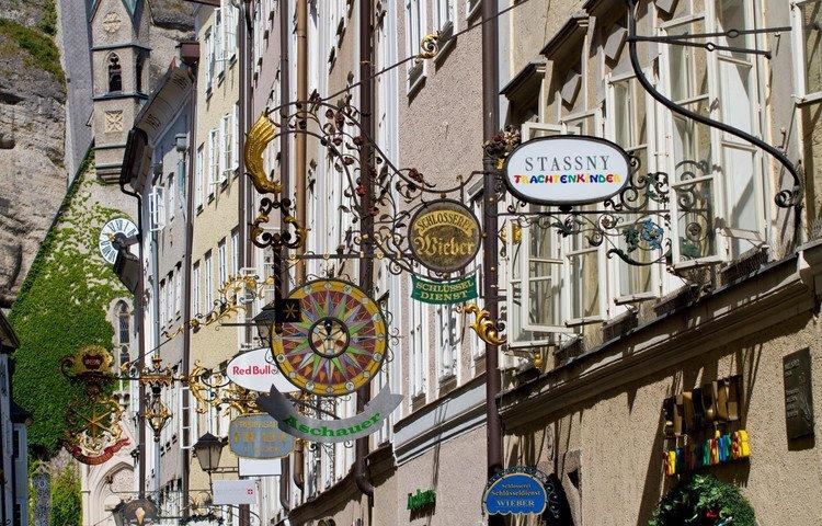 © Tourismus Salzburg - Die Getreidegasse.
