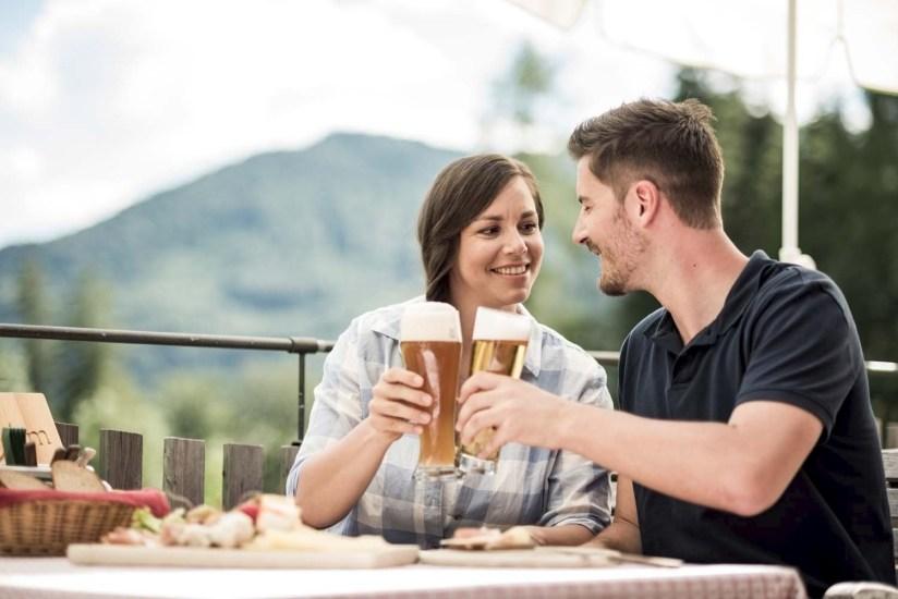 Zur Erfrischung ein Bier